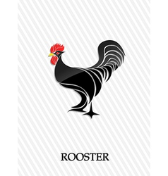 Abstract rooster vector