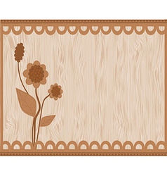 Brown floral card vector