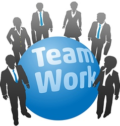 Business people team work ball vector