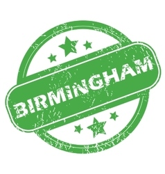Birmingham green stamp vector