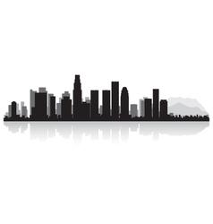 Los angeles usa city skyline silhouette vector