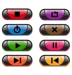 Plastic control buttons vector