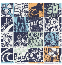 Surfing patchwork vector