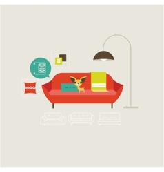 Sofa icons vector