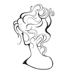 Girl with a high hairdo vector