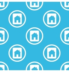House plate sign blue pattern vector