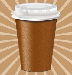 Realistic mug cup vector