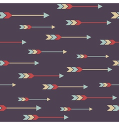 Seamless colorful ethnic pattern with arrows vector