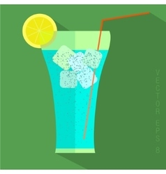 Juice glass icon vector