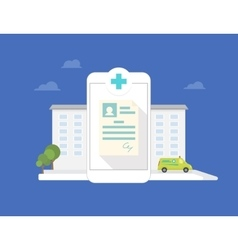 Hospital mobile application vector