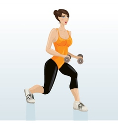Female exercising vector