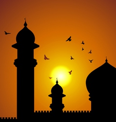 Mosque in asia vector