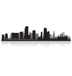 Miami usa city skyline silhouette vector