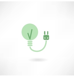 Lamp with socket icon vector