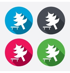 Tree sign icon break down tree symbol vector