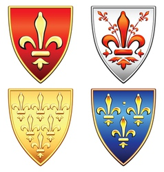 Traditional old shields vector