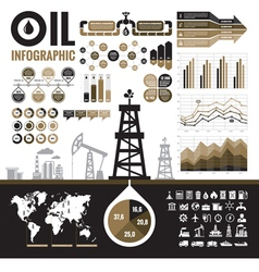 Oil industry - infographic elements vector