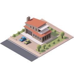 Isometric modern house vector