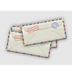 Stack of envelopes vector