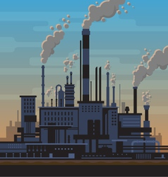 Industrial plant landscape vector