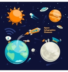 Conquest of space space infographics elements vector