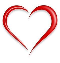 Red love heart vector