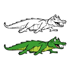 Alligator coloring book vector