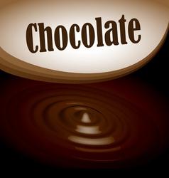 Chocolate splash text frame vector