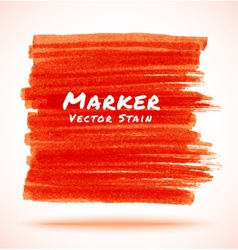 Red marker stain vector