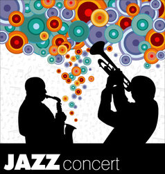 Jazz musicians background vector