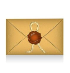 Sealed envelope with sealing wax vector