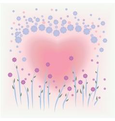 Flower card for valentine vector