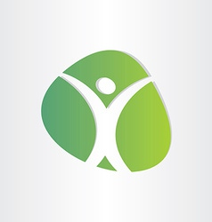 Healthy man green icon medical vector