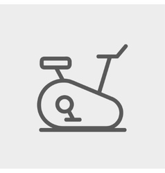 Fitness cycling thin line icon vector