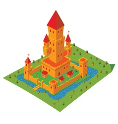 Isometric castle vector