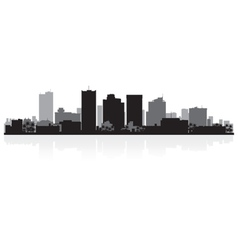 Phoenix usa city skyline silhouette vector