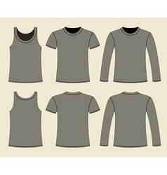 Singlet t-shirt and long-sleeved t-shirt vector