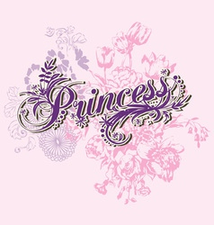Wording of princess vector