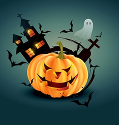 Stylish halloween design vector