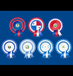 Rosettes to represent central american countries i vector