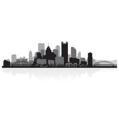 Pittsburgh usa city skyline silhouette vector