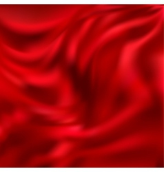 Abstract texture red silk vector