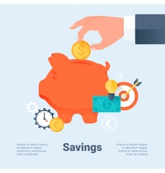 Saving money and investment business concept vector