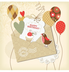 Birthday card and scrapbooking elements vector