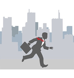 Busy business person hurry city rush vector