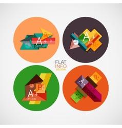 Flat infographic design concept set vector
