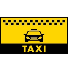 Taxi background with place for text vector