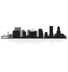 Portland usa city skyline silhouette vector