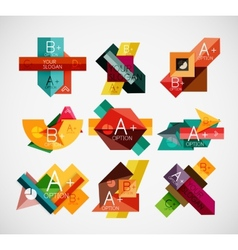 Geometrical shaped infographic concept set vector