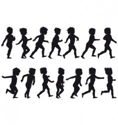 Child running vector